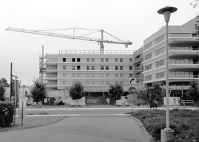 Children's Hospital, Stanford, under construction.