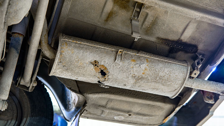 a hole in your muffler or exhaust