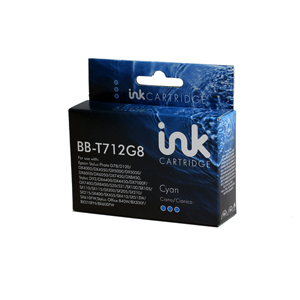 Epson T712G8 Compatible cyan Ink Cartridge 1