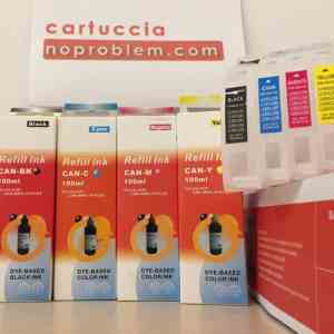 CARTUCCE RICARICABILI AUTORESET PER BROTHER LC123 / LC125 / LC127 + 400ML INCHIOSTRO
