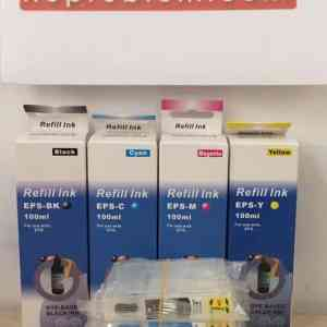 CARTUCCE RICARICABILI AUTORESET PER EPSON T1281 / T1291 + 400ML INCHIOSTRO
