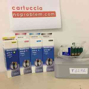 KIT IN CONTINUO PER EPSON T1281 + 400ML INCHIOSTRO