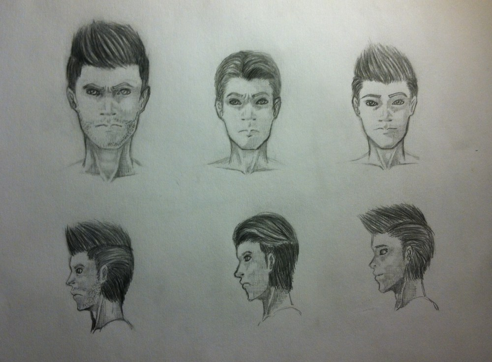 Fame & Fortune Sketches by Orion Vang (1/3)