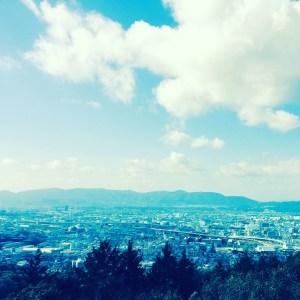 京都の大文字山こと如意ヶ嶽からの景色