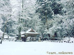 雪化粧の貴船神社奥宮