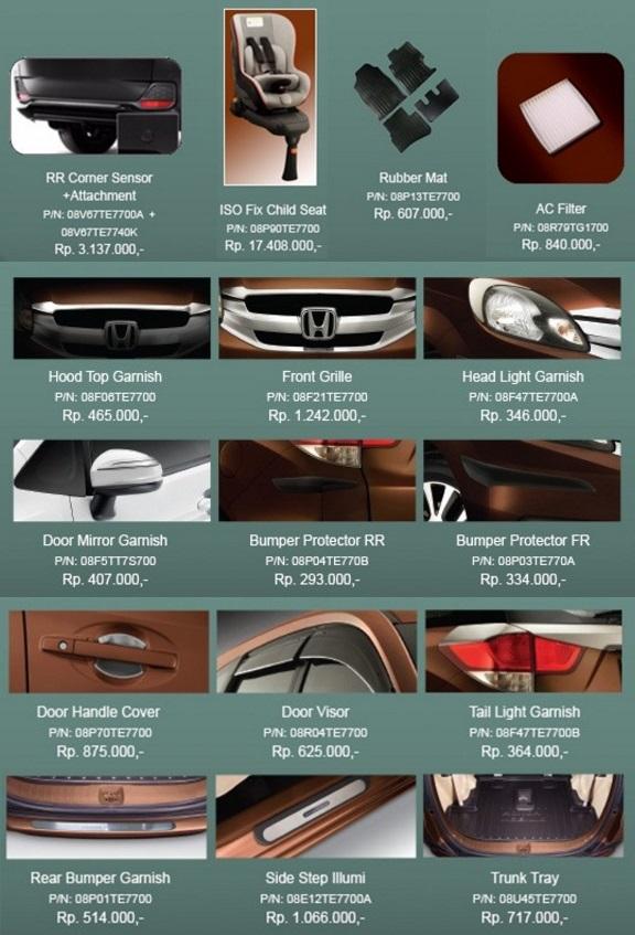 Aksesoris Mobilio 2016 facelift