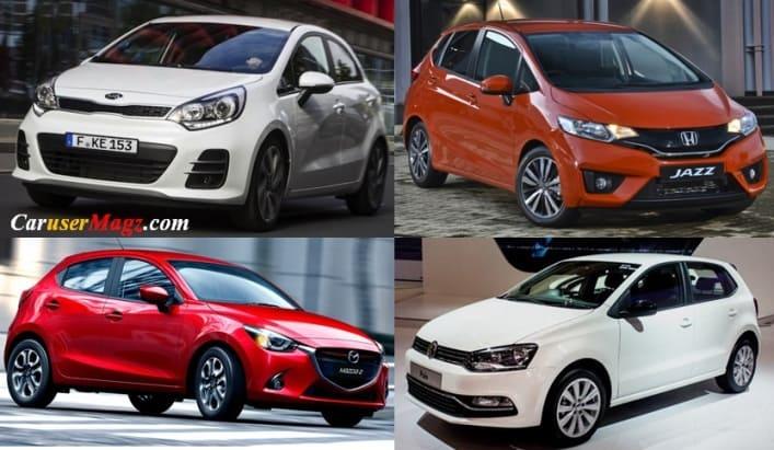 Membandingkan eksterior compact Hatchback Indonesia