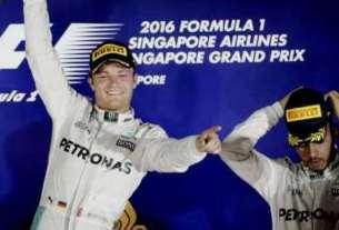 Hasil F1 GP Singapura 2016: Rosberg kalahkan Hamilton