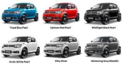 Pilihan Warna Suzuki Ignis Indonesia