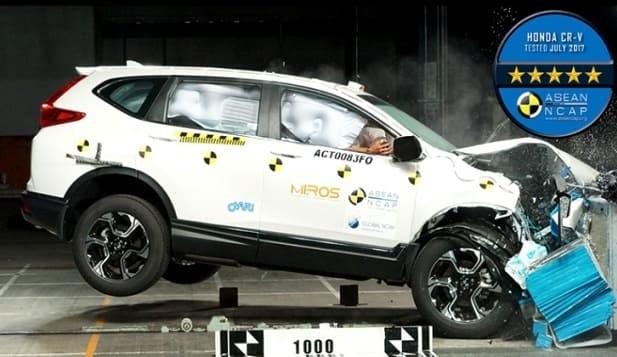 Honda CR-V Turbo Raih 5-Bintang Asean NCAP