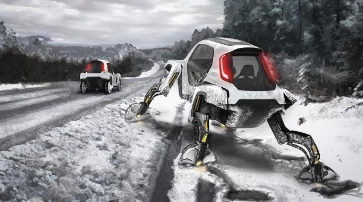 Hyundai Rancang Mobil Berkaki Robot - Hyundai Cradle
