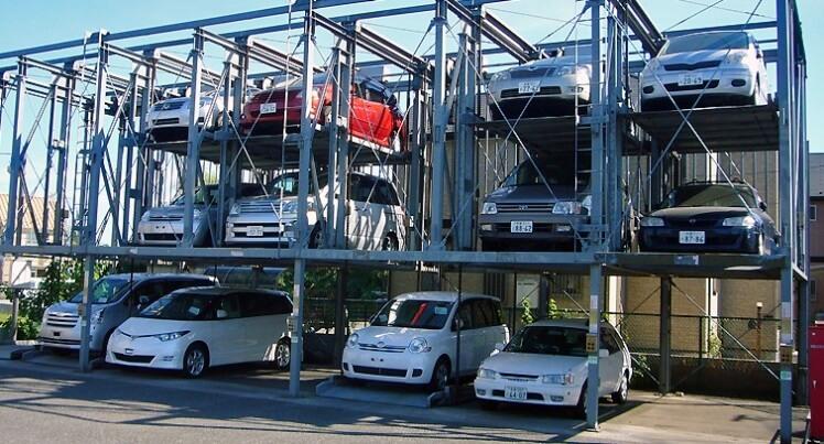 Tempat Parkir Mobil di Tokyo Jepang