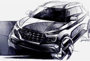 Hyundai Venue SUV - Teaser Eksterior-Front