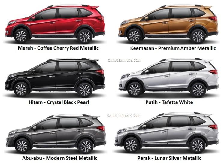 Pilihan Warna Honda BR-V 2019 Facelift