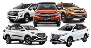Perbandingan Harga LSUV Indonesia - Xpander Cross - XL7 - BR-V - Rush - Terios