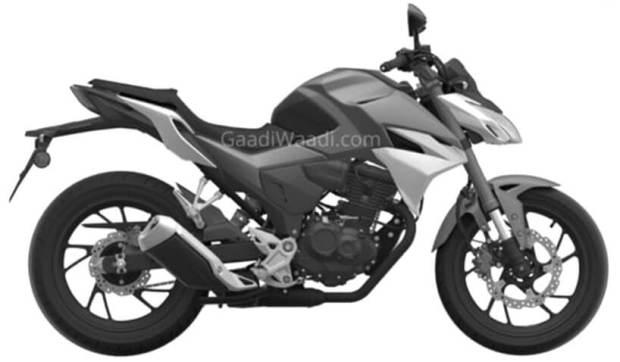 Sketsa Honda Tiger 2021 Generasi Baru - Tampak Samping