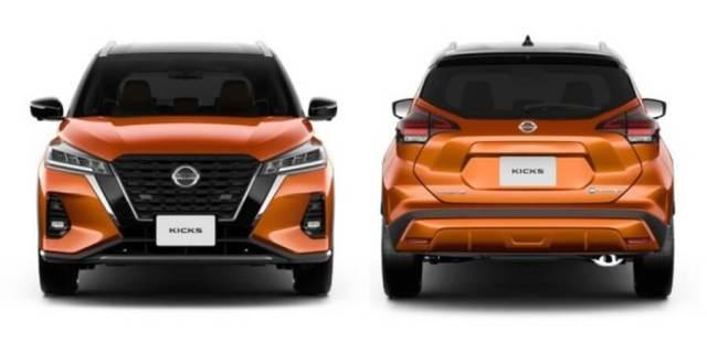 Nissan Kicks - Tampak Depan dan Belakang