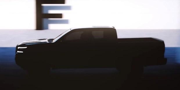 Teaser sisi samping Nissan Frontier - Nissan Navara 2021 Facelift