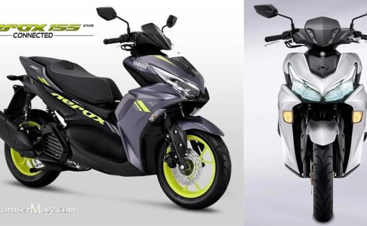 All New Yamaha Aerox 155 Facelift 2021 - Aerox Connected VVA