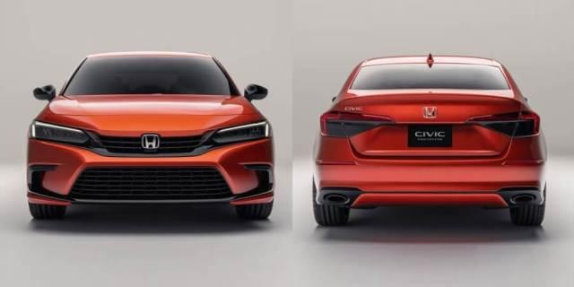 Prototipe Honda Civic 2022 Gen-11 - Tampak Depan dan Belakang