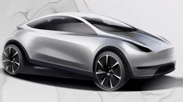 Sketsa Model Tesla China - Sumber Carscoops
