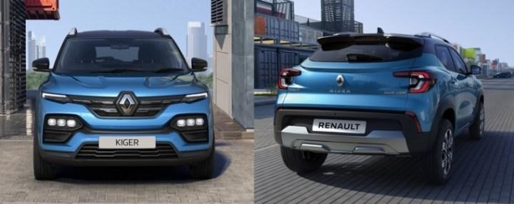 Tampilan Depan dan Bekalang Renault Kiger 2021