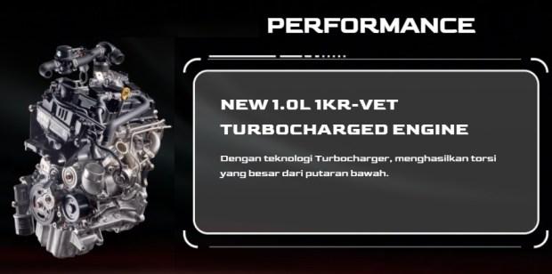 Mesin 1.0 Turbo - Daihatsu Rocky