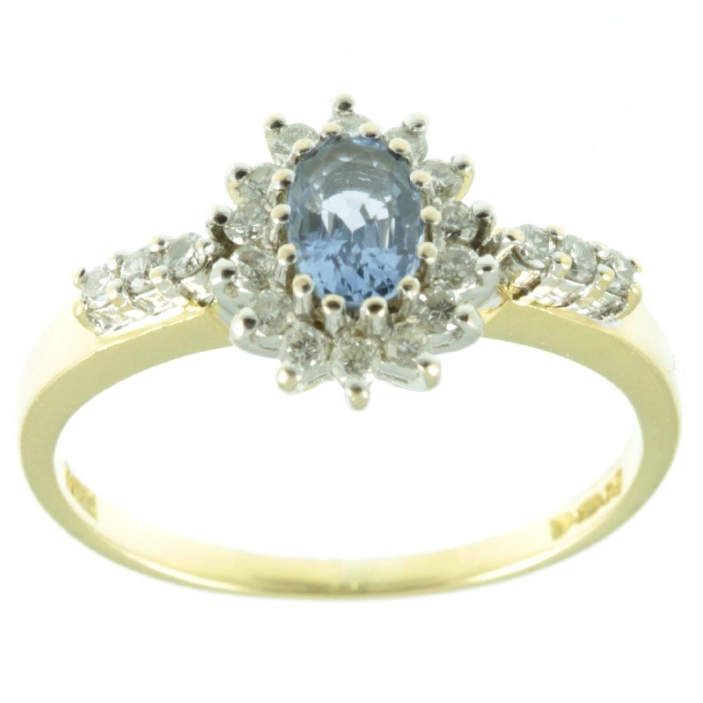 Ceylon Sapphire Amp Diamond Ring Carus Jewellery