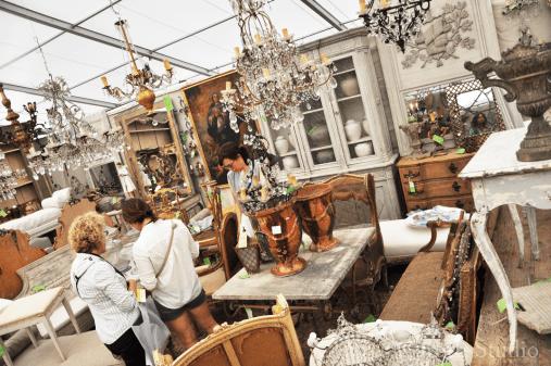 vintage flea market booth