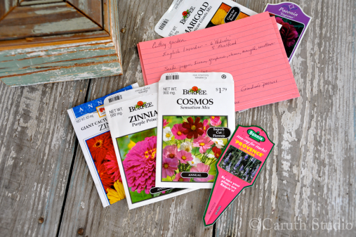Seed packets and plant tags