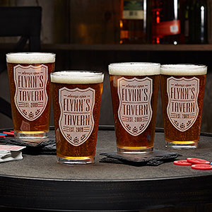 Beer Label Personalized 16oz. Pint Glass