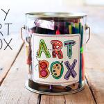 DIY art gift box