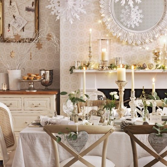 White dining room