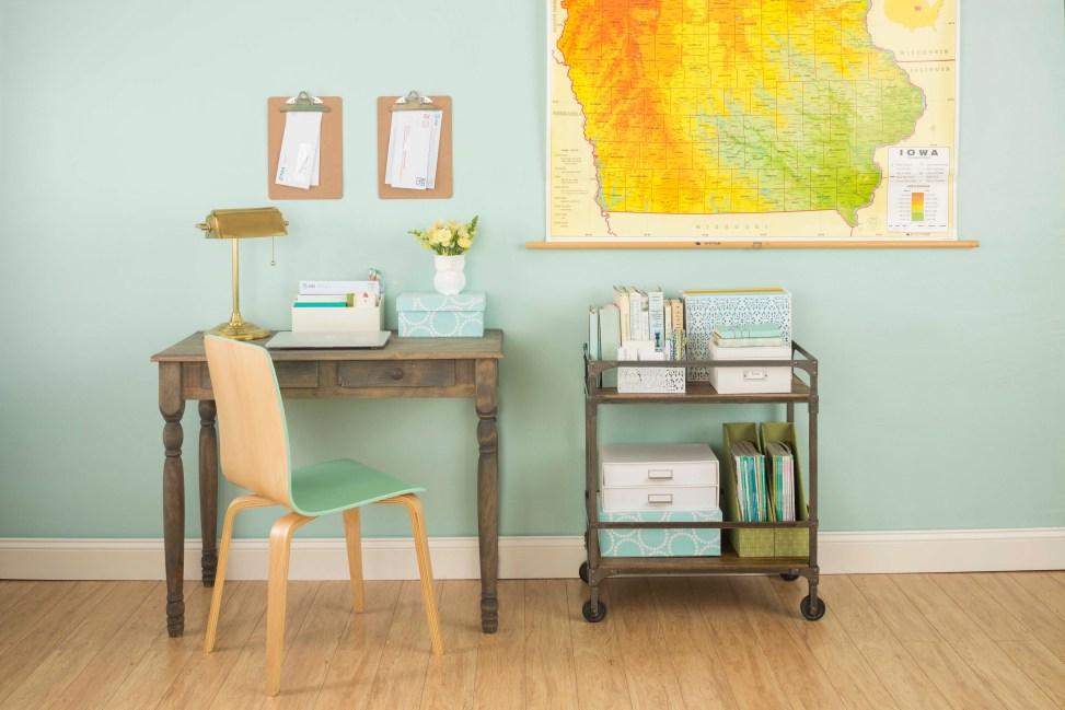 Home office with cart