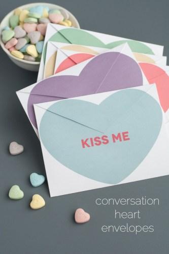 Conversation Heart Envelopes