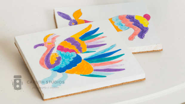 Otomi inspired coasters