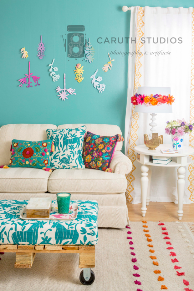 Otomi inspired living room overall