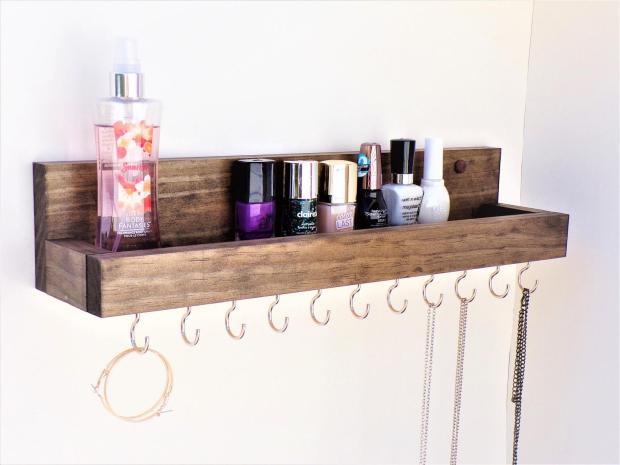 wooden Accessories Rack