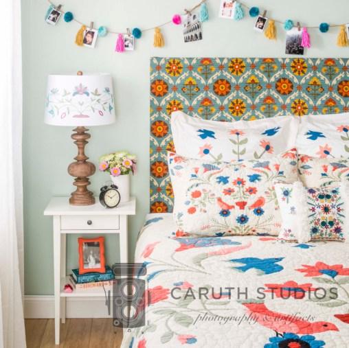Folk art bedroom