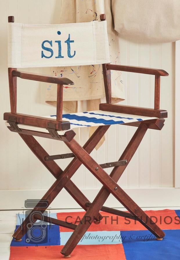 Drop cloth directors chair