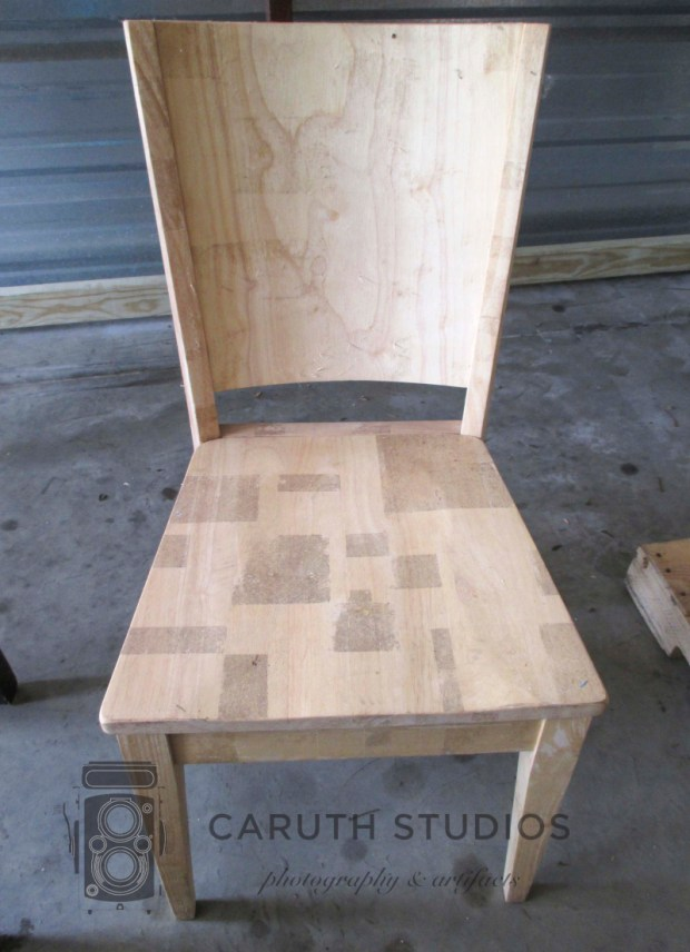 Unpainted chair