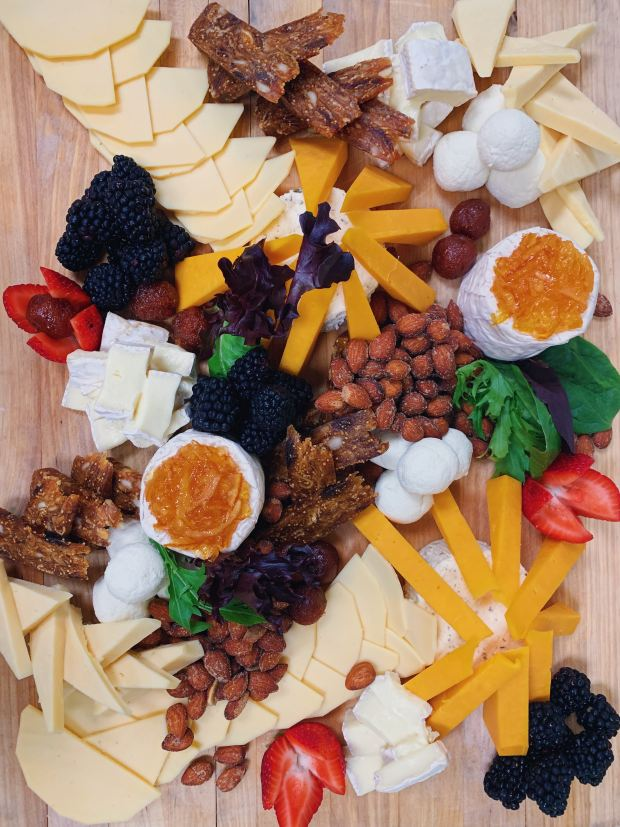 nut and fruit and spread board