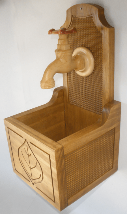 Wooden Faucet Wall Planter | CarveBuddy
