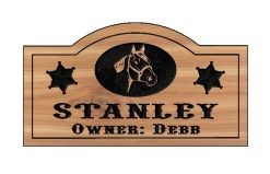 cusrom horse stable sign