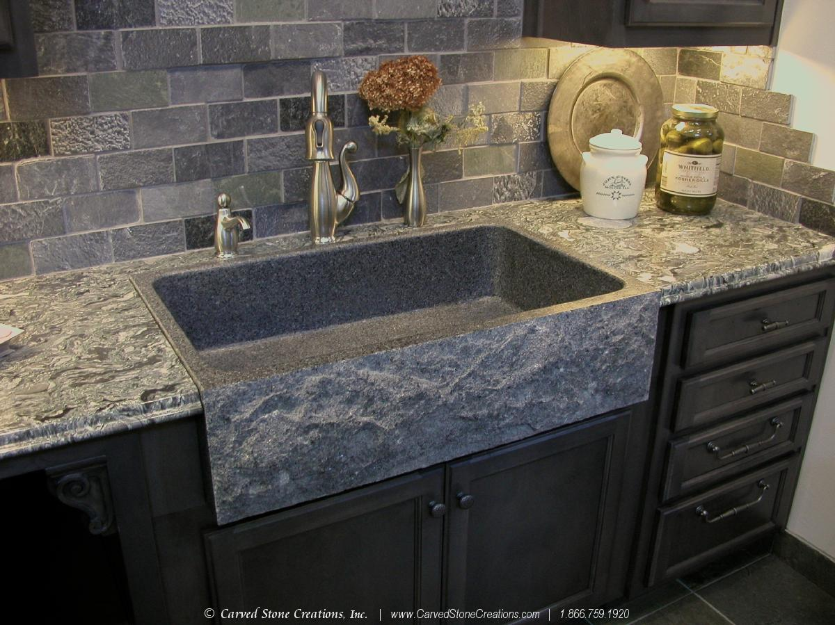 Top 5 Reasons to Install a Granite Kitchen Sink|Carved ... on Kitchen Farmhouse Granite Countertops  id=20683
