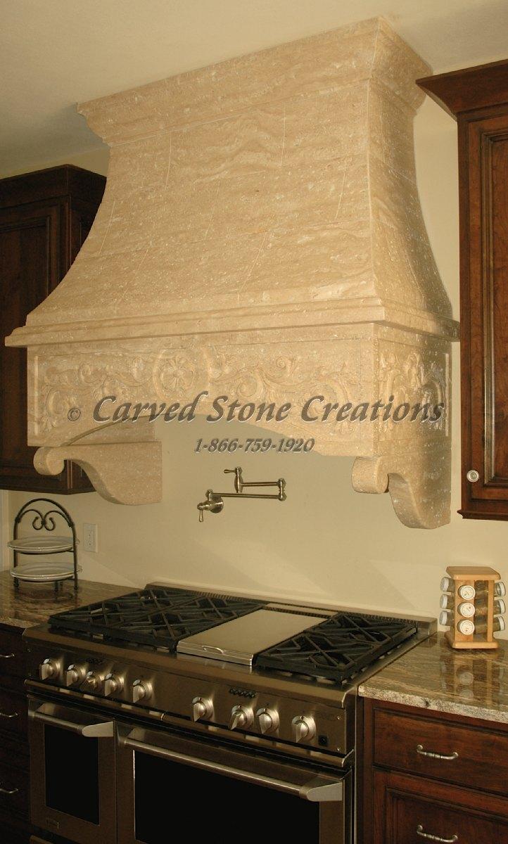 Best Kitchen Gallery: Custom Stone Kitchen Hoods Carved Stone Creations of Stone Kitchen Hoods on rachelxblog.com