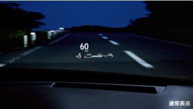 新型レクサス内装画像ヘッドアップディスプレイ