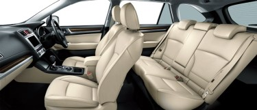 新型レガシィアウトバックの内装を画像でレビュー!後部座席もGOOD。本皮シート白・アイボリーが良い感じ!