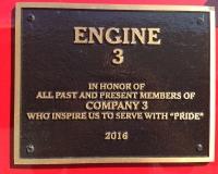 Engine 3 Plaque