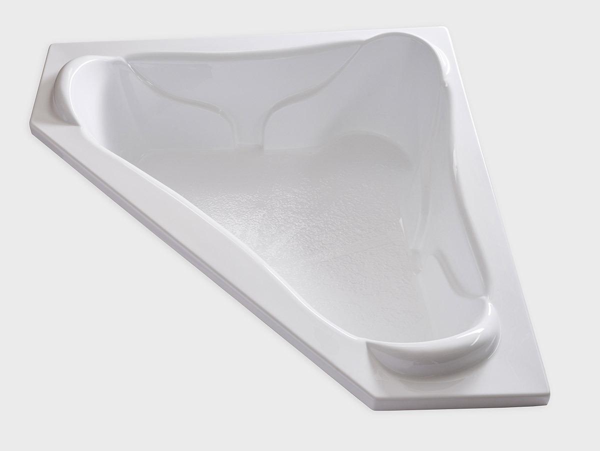 NW7272 72 X 72 Corner Drop In Soaking Bathtub Carver